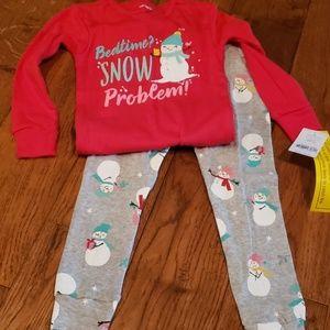 Snowman Pajamas Set, NWT
